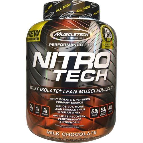 אבקת החלבון איזו היחידה עם פורמולה שורפת שומן MuscleTech Nitro Tech Ripped