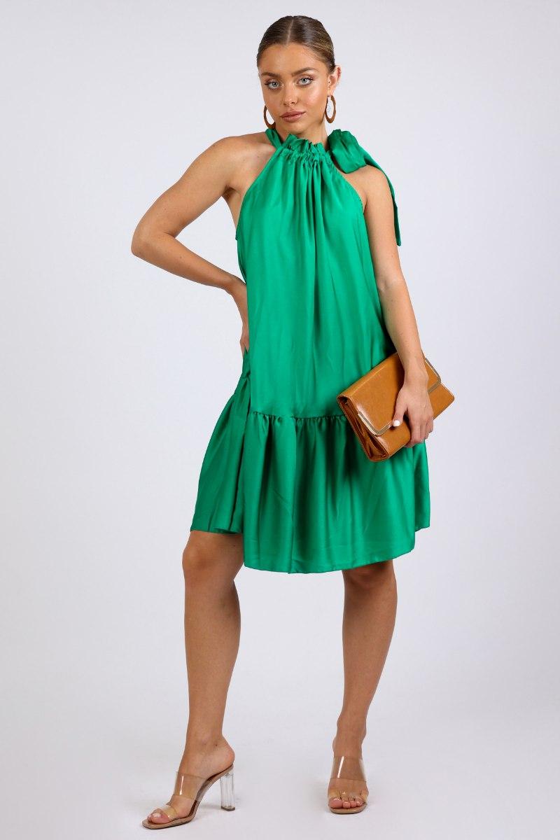 שמלת מידי שירן לערב ירוק