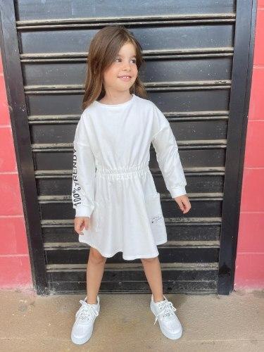 שמלת FT כיסים לבנה