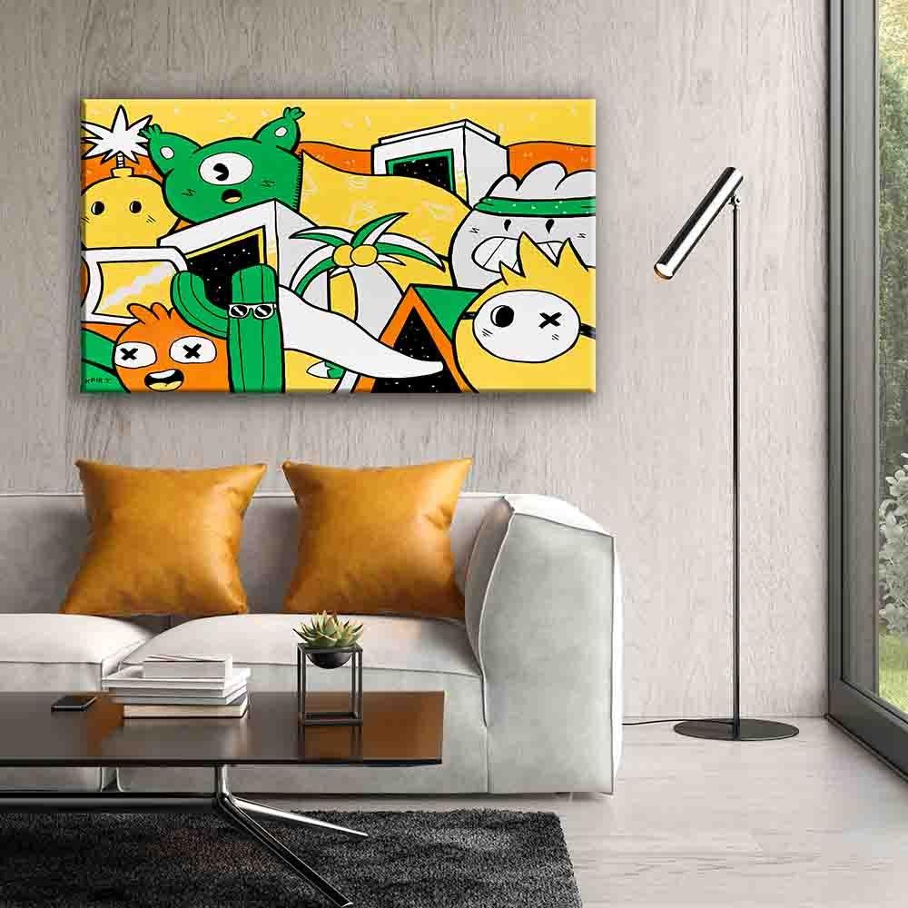 ציור גרפיטי צבעוני ללסלון של האמן כפיר תג'ר