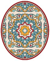שטיחון ומדבקה לאסלה  ברצלונה אדום דגם 248