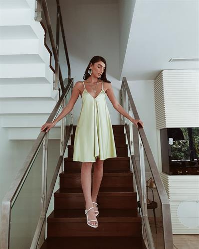 שמלת ג׳סיקה - ירוק תפוח