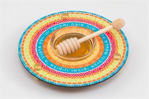 כלי לדבש ותפוחים צבעוני Dvash_05
