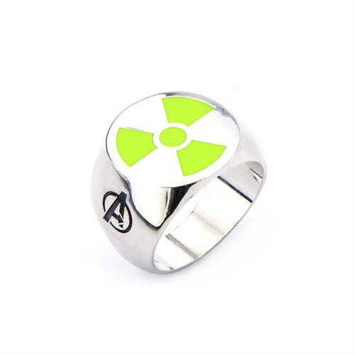 טבעת הענק הירוק פלדת אל-חלד MARVEL הנוקמים לגברים / נשים