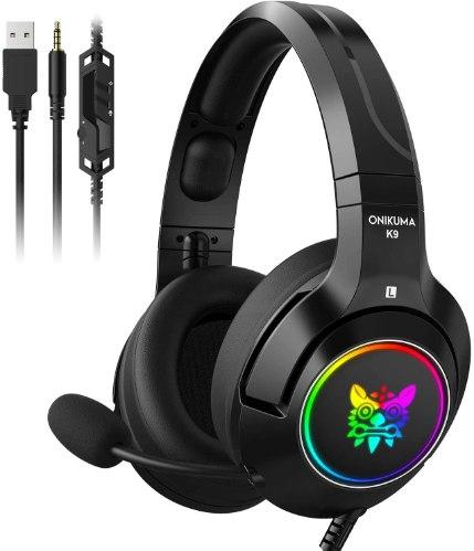 אוזניות גיימינג Onikuma K9 + מתאם