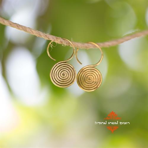 עגילי טייני spiral circle
