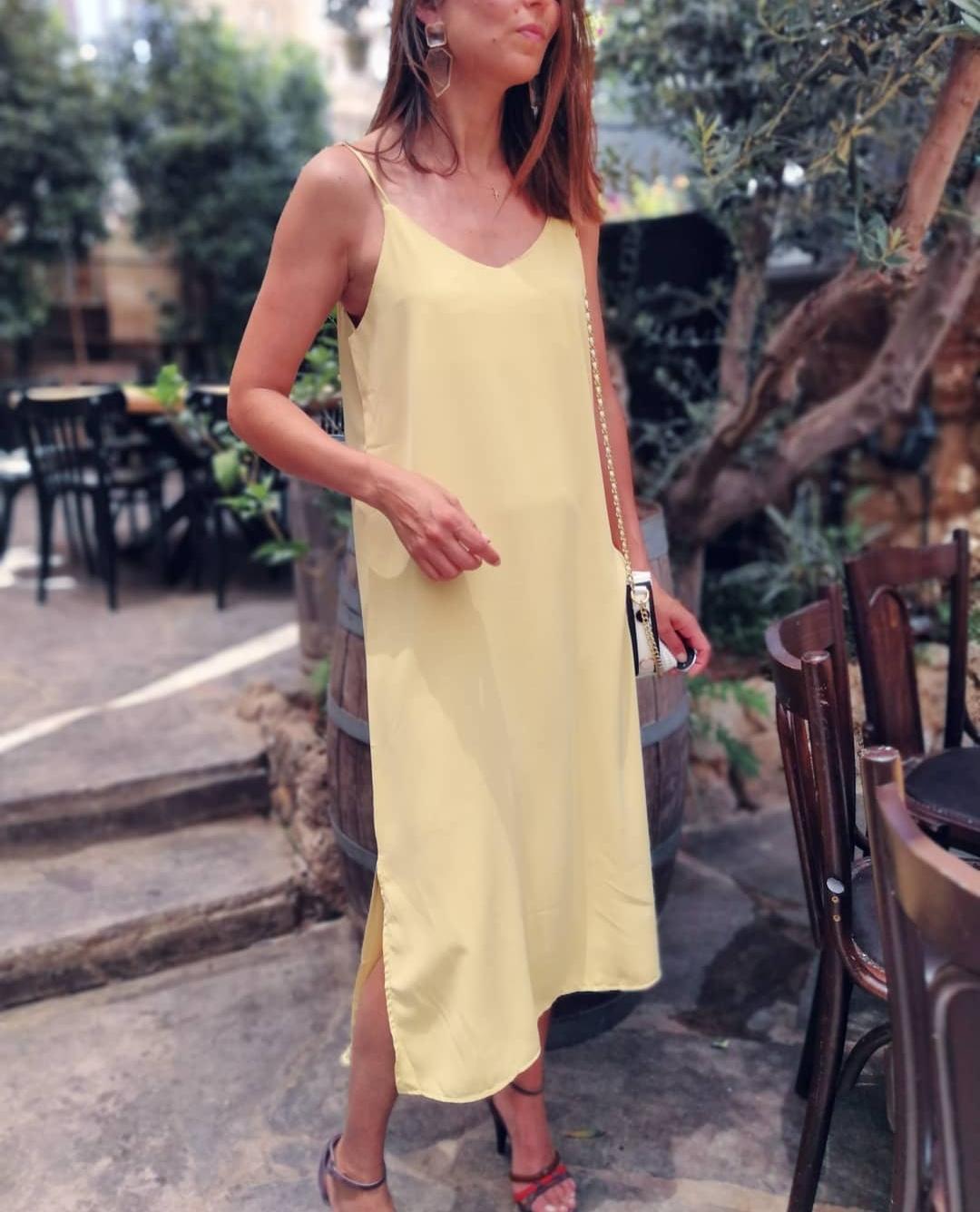 שמלת יוניק פריזאית - צהובה