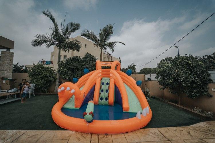 מתקן קפיצה מתנפח רטוב עם מים דרקון רטוב - Jumpy Jump - קפיץ קפוץ