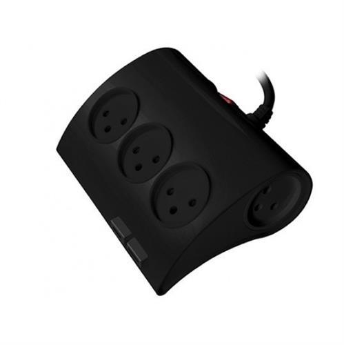 רב שקע חדשני כולל USB דגם XSS-521U