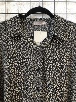 חולצת מיילי מנומר שחור
