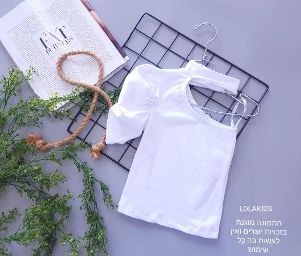 חולצת כתף אחת דגם 9601