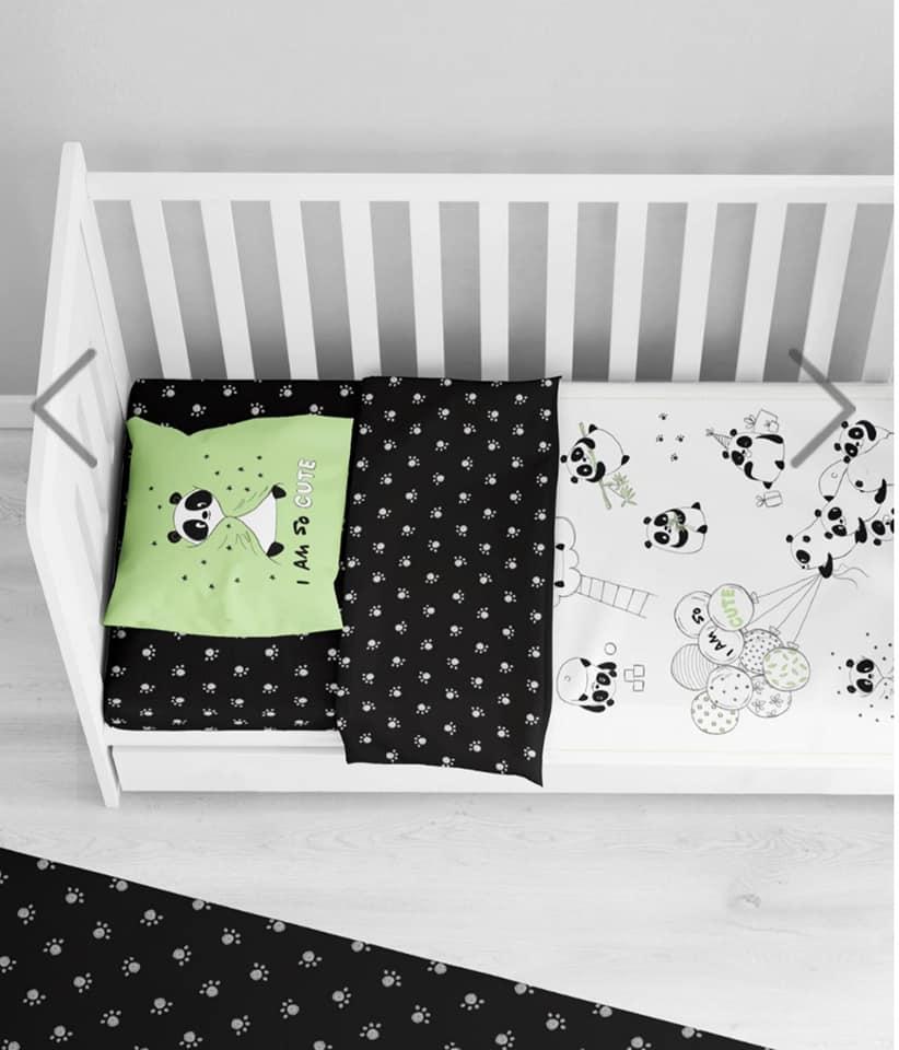 סט למיטת תינוק דגם ליטל פנדה