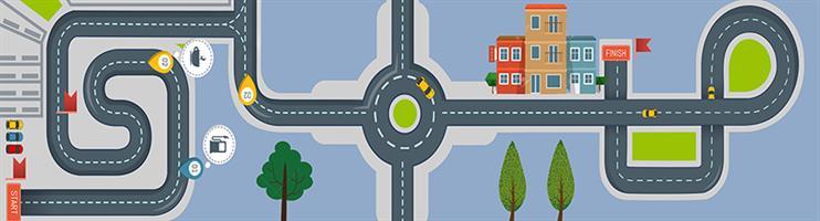 1 יח' טפט להדבקה על כוורת (KALLAX)- מסלול מכוניות