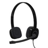 אוזניות ומיקרופון חוט Logitech Stereo Headset H151