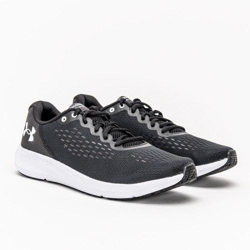 נעלי ספורט לגבר צבע שחור לבן UA Charged Pursuit 2 SE