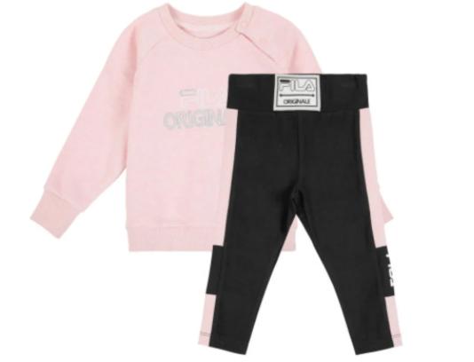 חליפת מעבר ורוד שחור תינוקות