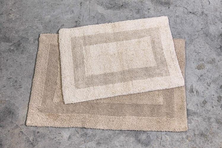 שטיח כותנה קטן - צבע חול