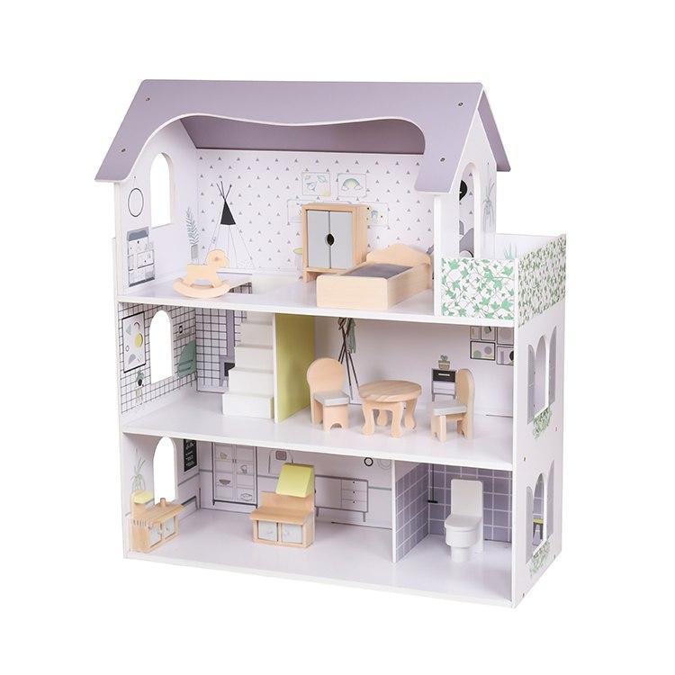בית בובות עם 8 פרטי ריהוט