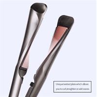 מחליק שיער - פלטה עגולה להחלקה ותלתלים