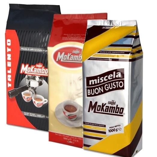 """3 ק""""ג קפה מוקמבו טעימות - Caffe Mokambo Mix"""