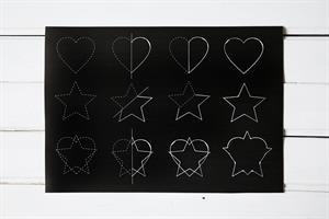 פלייסמט שירטוט של לב וכוכב