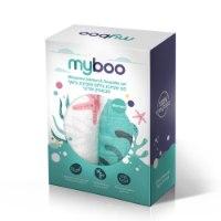 MyBoo סט שמיכת צילום ושמיכת עיטוף במבוק אורגני דגם Mermaid