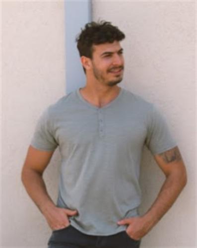 חולצת גבר 3 כפתורים