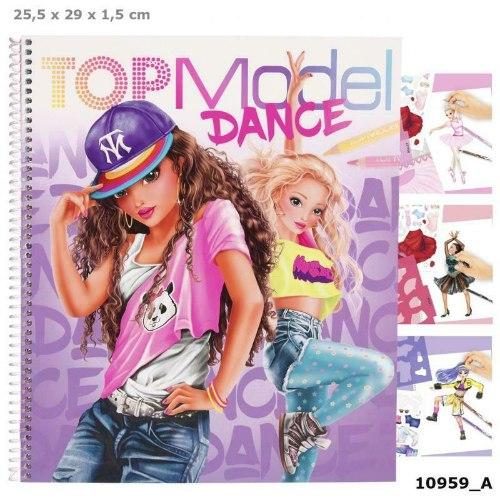 ספר צביעה ועיצוב TOP MODEL Dance