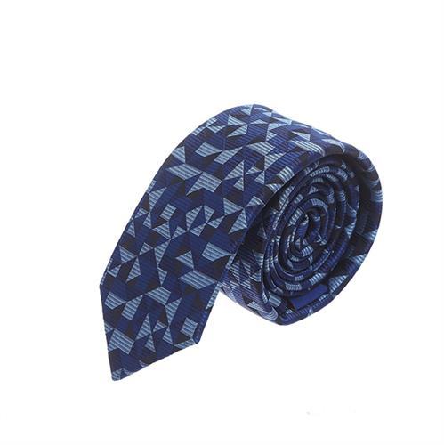 עניבה חיתוכים כחול תכלת