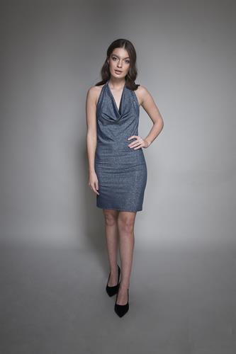 שמלה ביונסה כחול