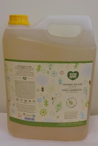 סבון טבעי לכל המשפחה 5 ליטר- ecolove