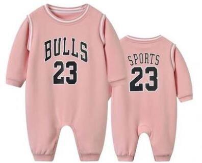 חליפת כדורסל ארוכה תינוק שיקאגו ורוד