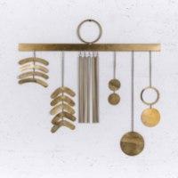 קישוט מתכת לקיר - ששת האלמנטים (זהב)