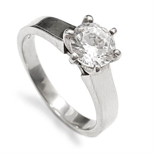 טבעת כסף משובצת  אבן זרקון  RG5898   תכשיטי כסף   טבעות כסף