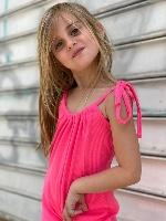MISS KIDS אוברול ורוד מידות 2-16