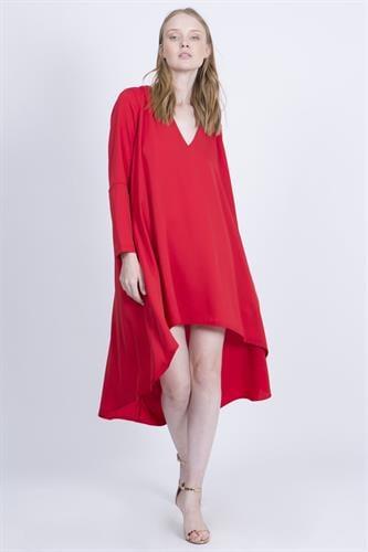 שמלת סלינה אדומה