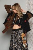 חצאית סאטן מודפס
