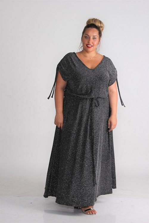 שמלת סינדרלה ערב לורקס כסף