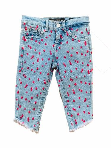 ג'ינס תינוקות GUESS נקודות ורודות