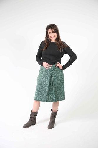 חצאית כפל ירוקה