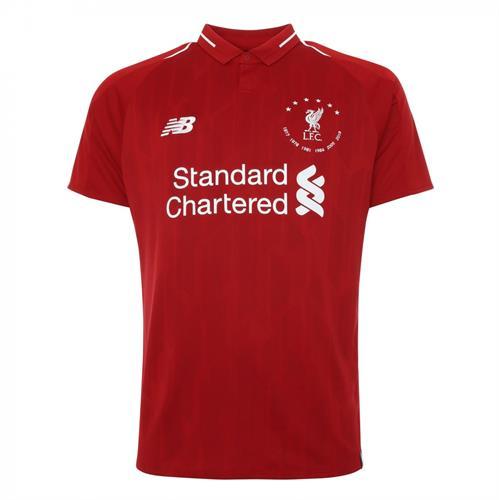 חולצת משחק ליברפול בית 19/20 - מהדורה מוגבלת 6 זכיות בליגת האלופות