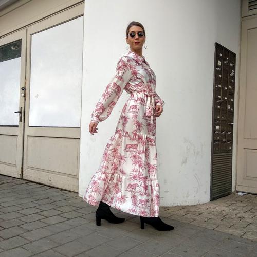 שמלת TIGER - מכופתרת