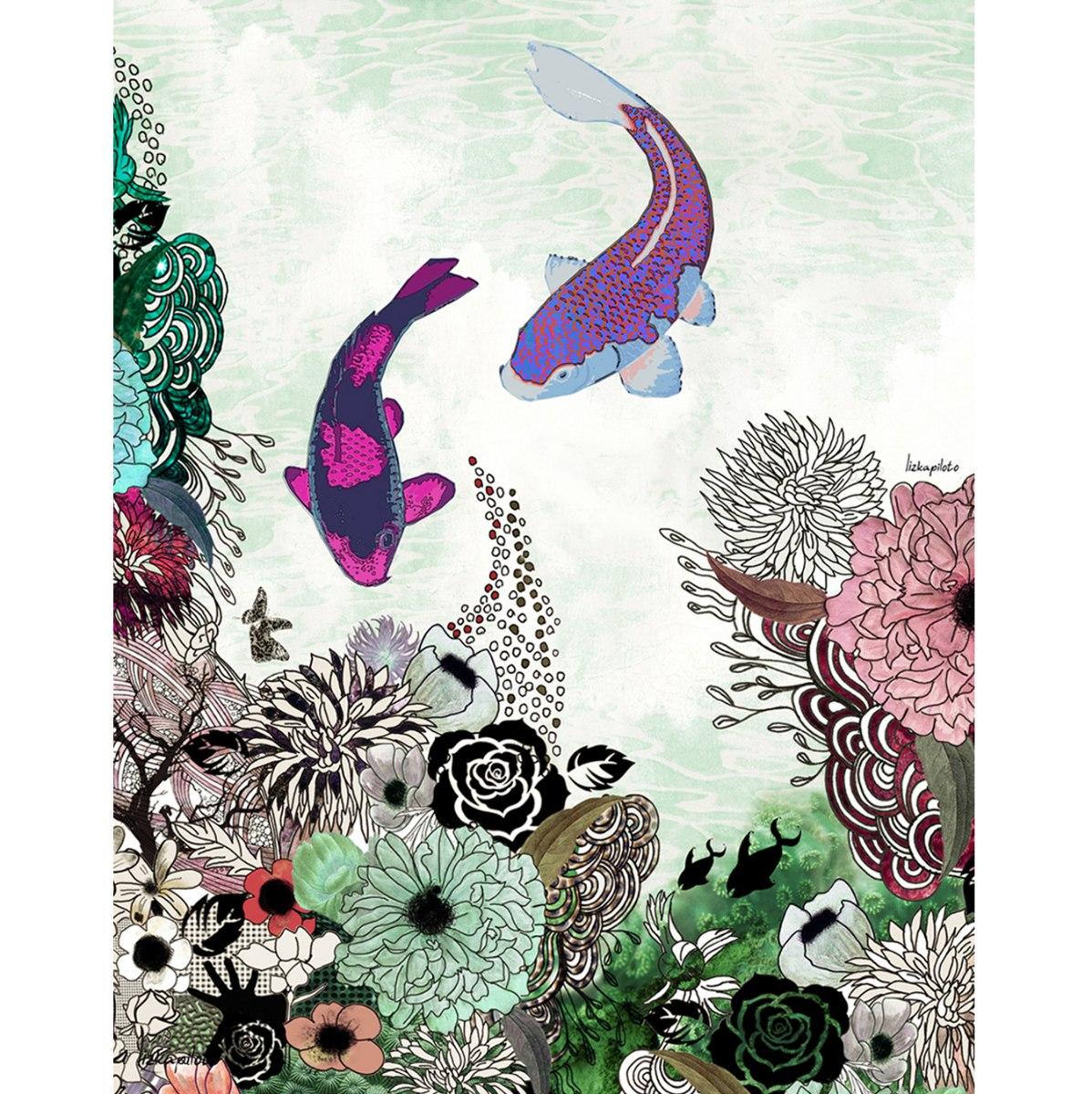 ציור פנג שואי דגי קוי
