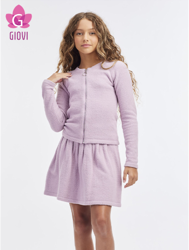 חצאית סריג פליסה(סגול)