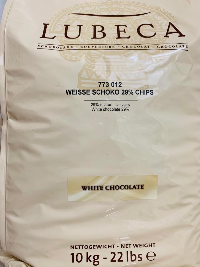 Белый шоколад 29% Лубека 10кг