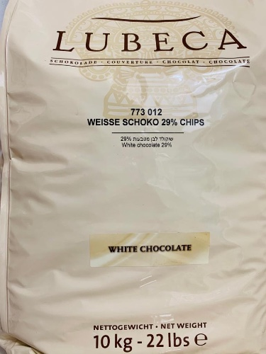 שוקולד לבן 29% לובקה 10קג