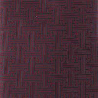 עניבה קלאסית גאומטרי שחור בורדו