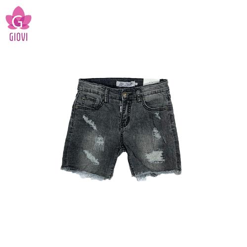 מכנס ג'ינס קצר נערים אפור