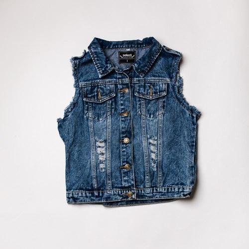 ווסט ג'ינס כהה קרעים נשים