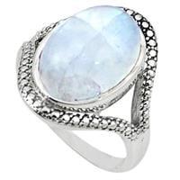 טבעת כסף משובצת אבן מונסטון  RG5694 | תכשיטי כסף 925 | טבעות כסף